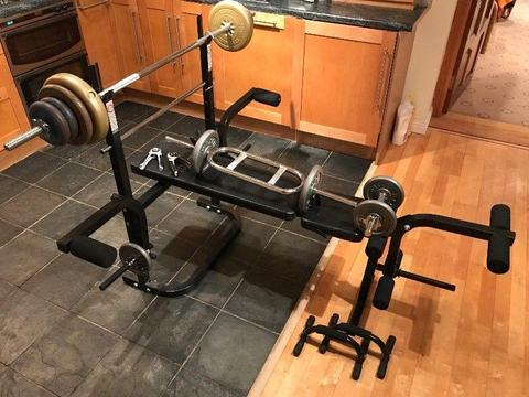FOR SALE: Weight Training Pack - Bench, Bars, Weights & More!