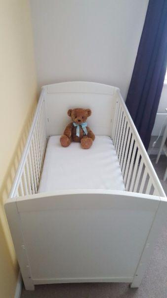 Mothercare cot bed and dresser