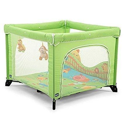 Square playpen, as new, Chicco. Orange. 100€