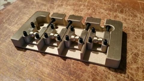 4 string brass bass bridge for Fender or similar