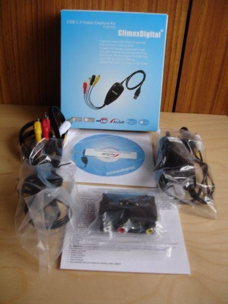 ClimaxDigital USB 2.0 VHS to DVD Video Capture/Converter/DVD Maker Kit