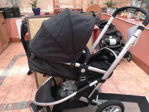 Mothercare Xpedior Pram and Pushchair Travel System plus Colourpack