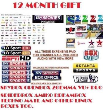 Mag250 box+ iptv subscription special offer €150