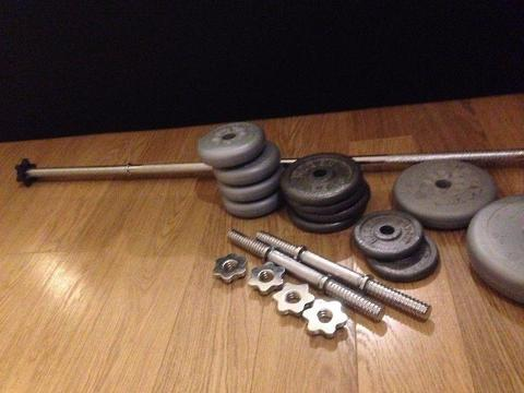 Weights, Dumbbells and barbell