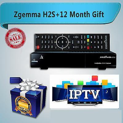 ZGEMMA H2S + 12 MONTHS IPTV - FULL EPG
