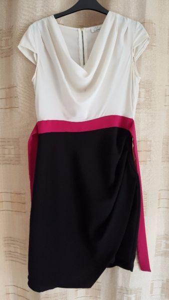 CLOSET - dress size 12 black/white