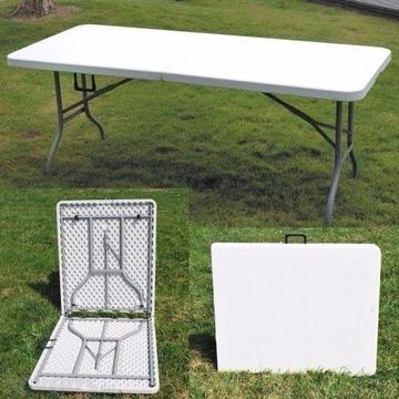 Heavy Duty 6' Folding Trestle Table for Banquet or Exhibition in excellent condition!