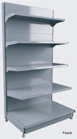 Retail shop wall shelves