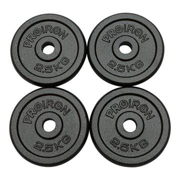 PROIRON Gym Quality Fitness Exercise Solid Cast Iron Weight Plate Discs