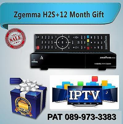 ZGEMMA H2S + 1 YEAR IPTV SUBSCRIPTION - FULL EPG