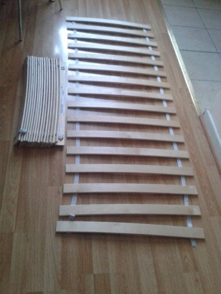 Slatted bed base for double bed