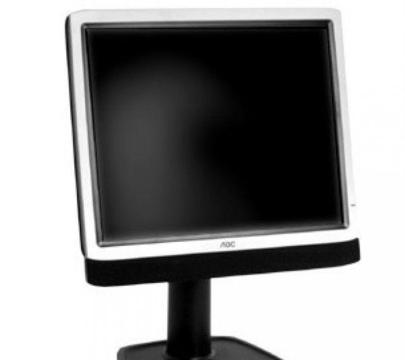 LCD TFT monitor with built-in speakers