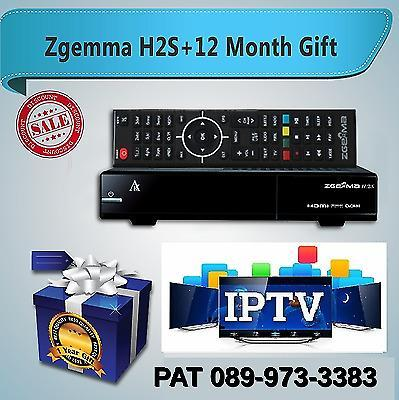 ZGEMMA H2S TV BOX + 1 YEAR IPTV SUBSCRIPTION