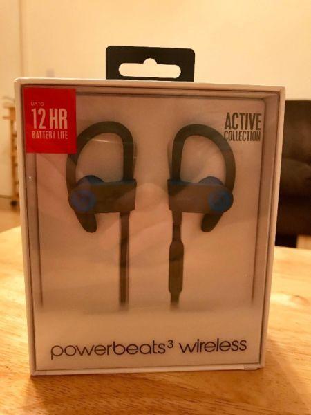 Beats by Dre Powerbeats3 Wireless Earphones - Flash Blue BRAND NEW