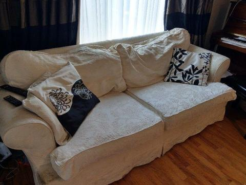 Three piece couch suite for sale