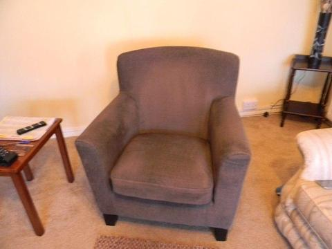 cloth upholstery armchair