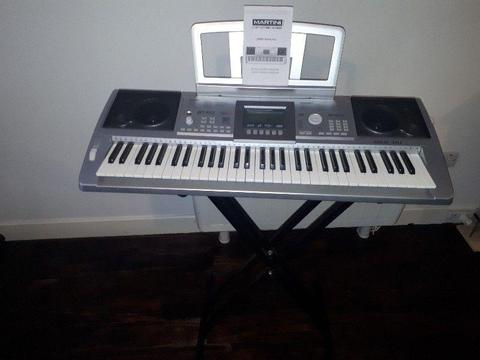 Martini 61 Key Electronic Keyboard - Great Condition. Music and keyboard stand included
