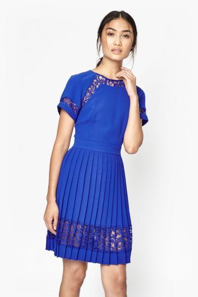 French connection blue dress size 12