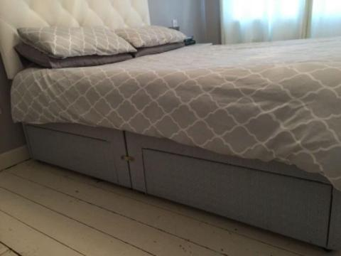 King Size Divan base with 4 Drawers & Headboard