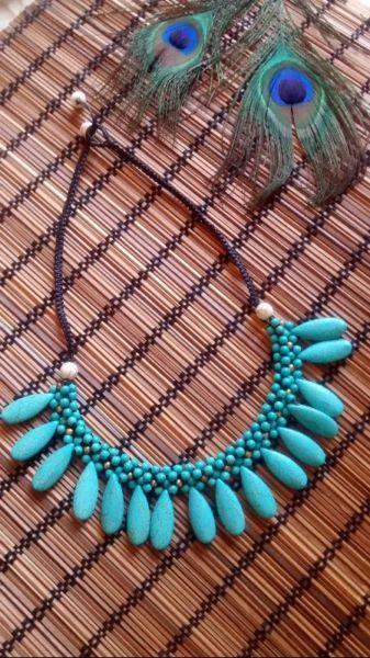Women Necklace Fashion Jewelry artificial turquoise stone