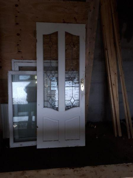 Used glased inteneral doors and pvc windows