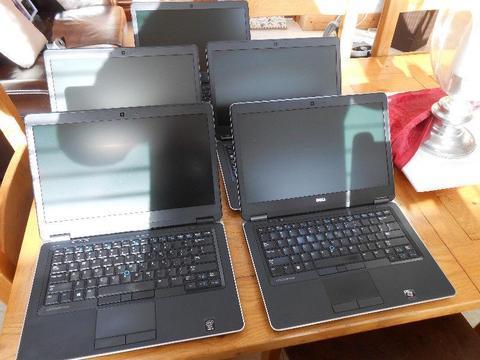 5 x Dell UltraBook E7440 Intel i5 4th Gen Processor 8GB Ram Samsung Msata 250GB SSD Super Fast