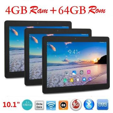 MT6598 64gb octa core 10.1 inch Android 7.0 dual 3g phablet tablet PC black